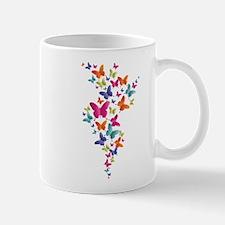 Multi Color Flying Butterflies Mugs