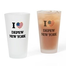 I love Depew New York Drinking Glass