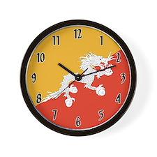 Flag of Bhutan Wall Clock