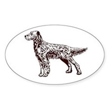 English / Irish Setter Oval Decal