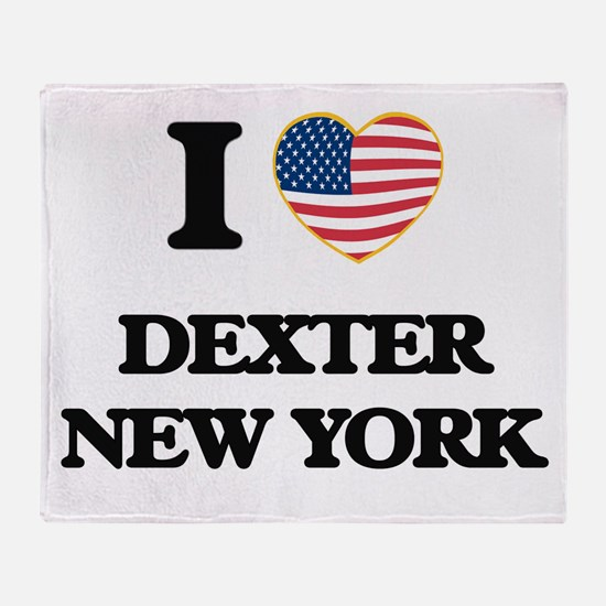 I love Dexter New York Throw Blanket