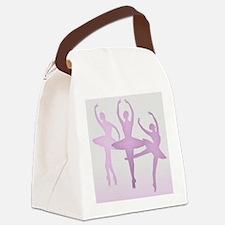 Pink Dancing Ballerinas Canvas Lunch Bag