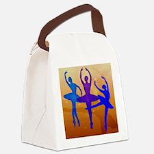 Purple Dancing Ballerinas Canvas Lunch Bag
