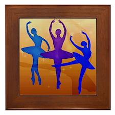 Purple Dancing Ballerinas Framed Tile