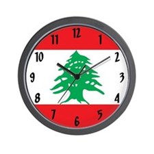 Flag of Lebanon Wall Clock