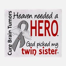 Brain Tumor HeavenNeededHero1 Throw Blanket