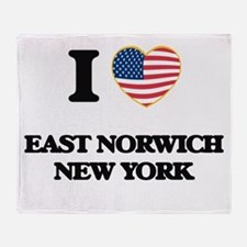 I love East Norwich New York Throw Blanket