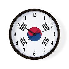 Flag of South Korea Wall Clock