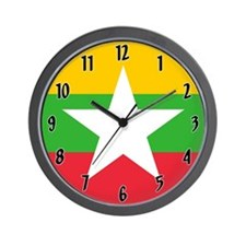 Flag of Burma Wall Clock
