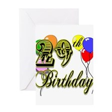 Unique Happy birthday 29 Greeting Card