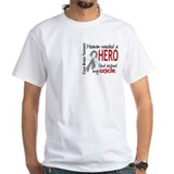 Brain cancer in memory Mens White T-shirts
