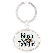 Bingo Fanatic Oval Keychain
