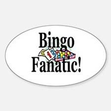 Bingo Fanatic Sticker (Oval)