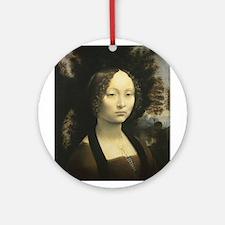 Da Vinci Two Store Ornament (Round)