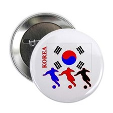 "Korea Soccer 2.25"" Button (10 pack)"