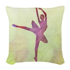 Pink Dancer Woven Throw Pillow