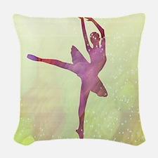 Pink Dancer Woven Throw Pillow
