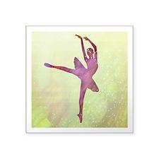 "Pink Dancer Square Sticker 3"" x 3"""