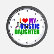 Autistic Daughter Wall Clock