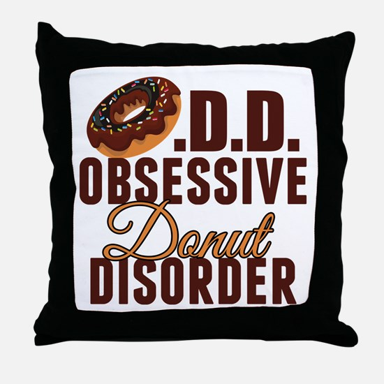 Funny Donut Throw Pillow
