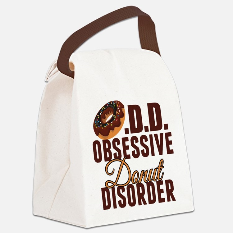 Funny Donut Canvas Lunch Bag