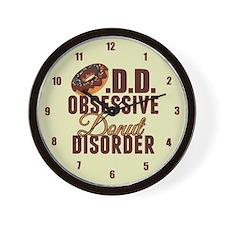 Funny Donut Wall Clock
