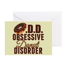 Funny Donut Greeting Card