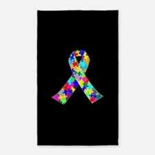 Autism Ribbon Area Rug