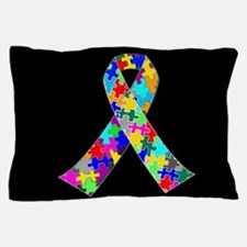 Autism Ribbon Pillow Case