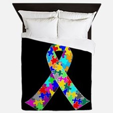 Autism Ribbon Queen Duvet