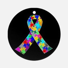 Autism Ribbon Ornament (Round)