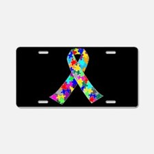 Autism Ribbon Aluminum License Plate