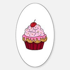 Cupcake Sticker (Oval)
