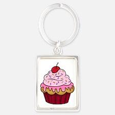 Cupcake Portrait Keychain