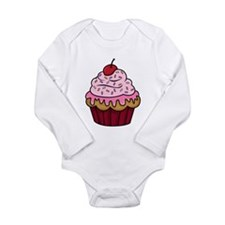 Vanilla Cupcake w/Pink Frosting Body Suit