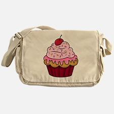 Vanilla Cupcake w/Pink Frosting Messenger Bag