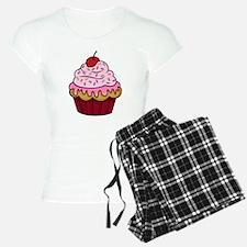 Vanilla Cupcake w/Pink Fros pajamas
