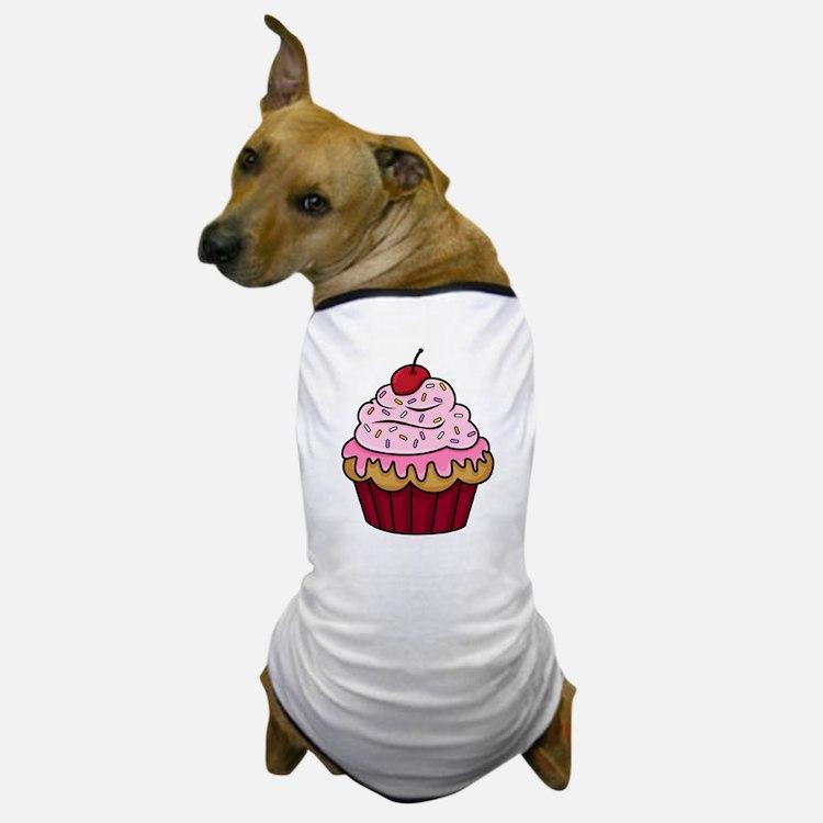 Vanilla Cupcake w/Pink Frosting Dog T-Shirt