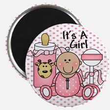 It's A Girl Baby Pink Magnet