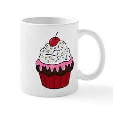 Chocolate Cupcake w/Pink Frosting Mugs