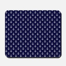 Blue Anchors Mousepad