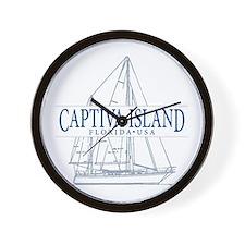 Captiva Island - Wall Clock