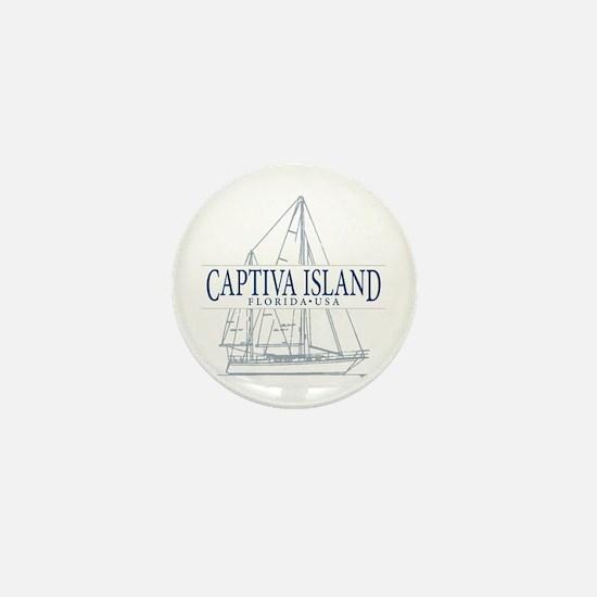 Captiva Island - Mini Button