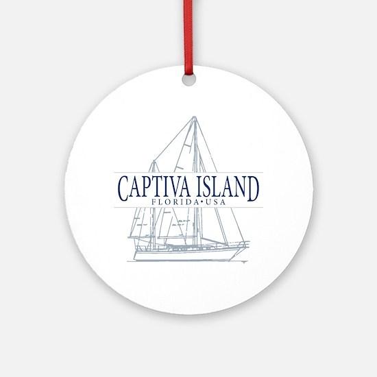 Captiva Island - Ornament (Round)