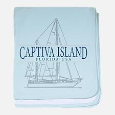 Captiva Island - baby blanket