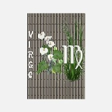 Bamboo and Lily Virgo Rectangle Magnet