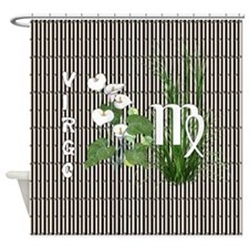 Bamboo and Lily Virgo Shower Curtain