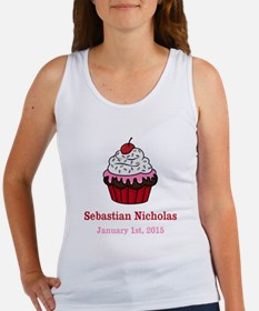 CUSTOM Cupcake w/Baby Name Date Tank Top
