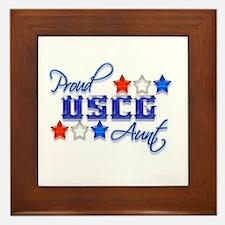 USCG Aunt Framed Tile
