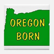 OREGON BORN Tile Coaster